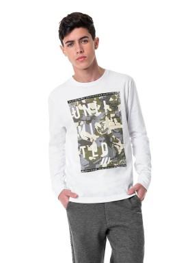 camiseta manga longa juvenil masculina unlimited branco hangar33 70359 1