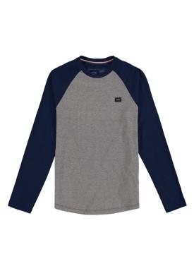 camiseta manga longa juvenil masculina born to fly marinho hangar33 70362
