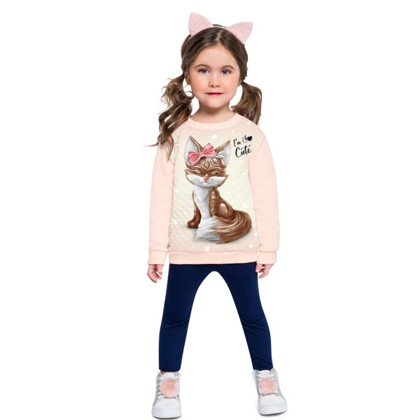conjunto moletom infantil feminino so cute rosa brandili 53911 1
