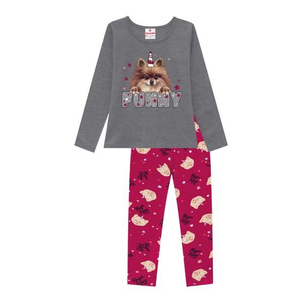 conjunto manga longa infantil feminino funny mescla brandili 53950 1