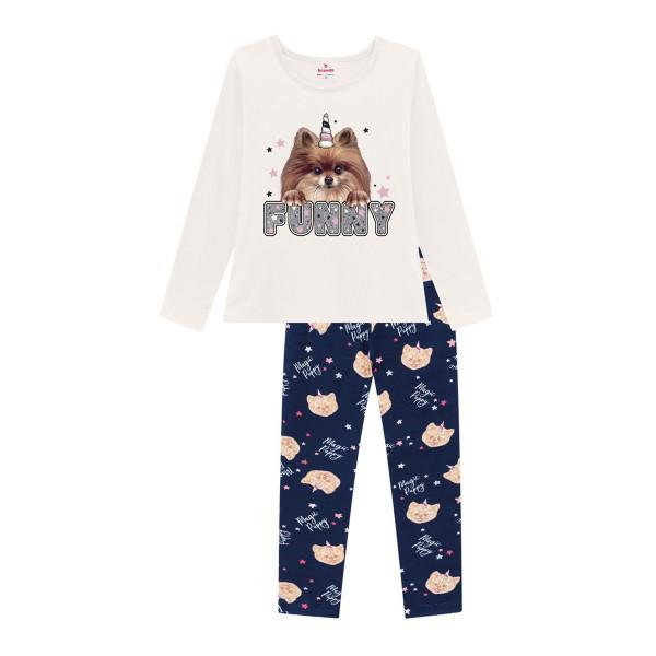 conjunto manga longa infantil feminino funny natural brandili 53950 1