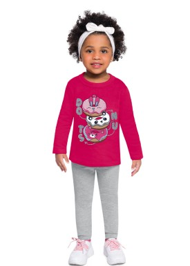 conjunto moletom infantil feminino donuts pink brandili 53996 1