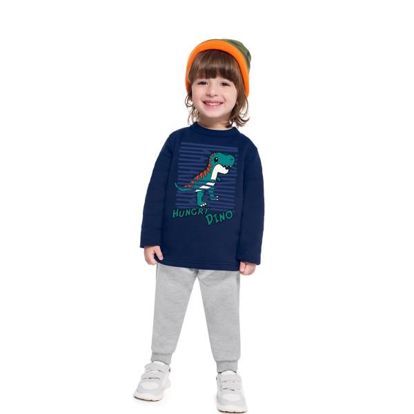 conjunto moletom bebe masculino hungry dino marinho brandili 54002 1