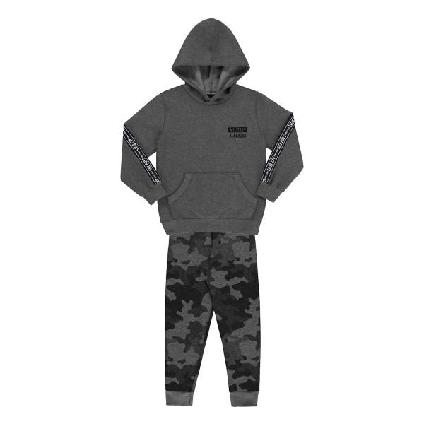 conjunto moletom infantil juvenil masculino militay mescla alakazoo 67426