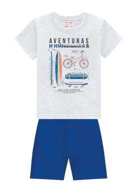 conjunto infantil masculino aventuras mescla brandili 34603