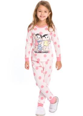 pijama longo infantil feminino turma monica rosa evanilda 24040063