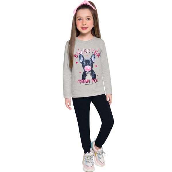 conjunto moletinho infantil feminino sweeter mescla brandili 53999 1