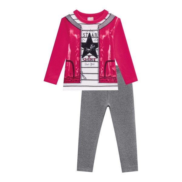 conjunto moletom infantil feminino star pink brandili 54280 1