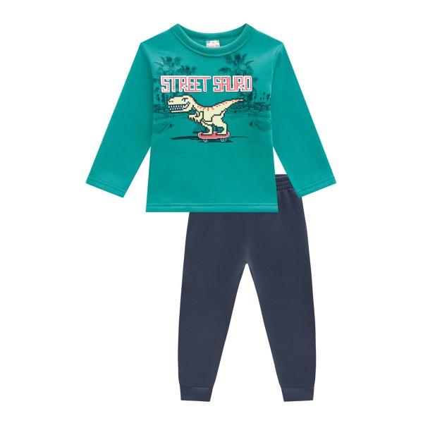 conjunto moletom infantil masculino street sauro verde brandili 54007 1