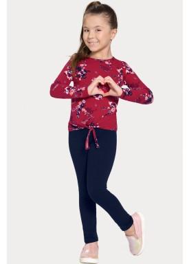 conjunto manga longa infantil feminino estampado vermelho alakazoo 11374 1