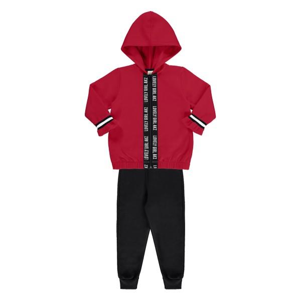 conjunto moletom infantil feminino lovely vermelho alakazoo 67470