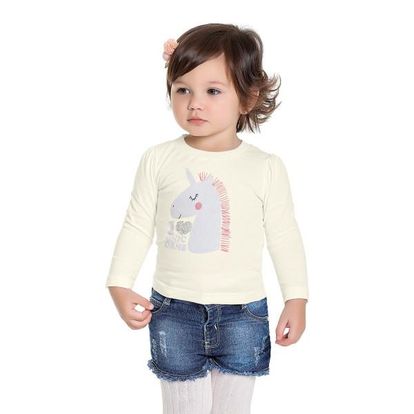 blusa manga longa bebe feminina unicorn marfim fakini 1006 1