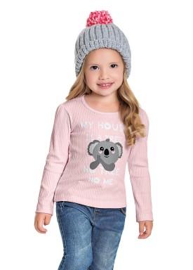 blusa manga longa infantil feminina cool coala rosa fakini 1038 1