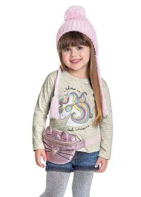 blusa manga longa infantil feminina cool unicorns mescla fakini 1028 1