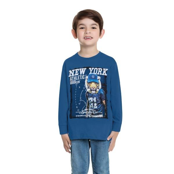 camiseta manga longa infantil masculina new york azul fakini 1246 1