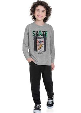 conjunto manga longa infantil masculino skate mescla fakini 1273 1