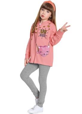 conjunto moletom infantil feminino pop ur gr8 rosa fakini forfun 1162 1