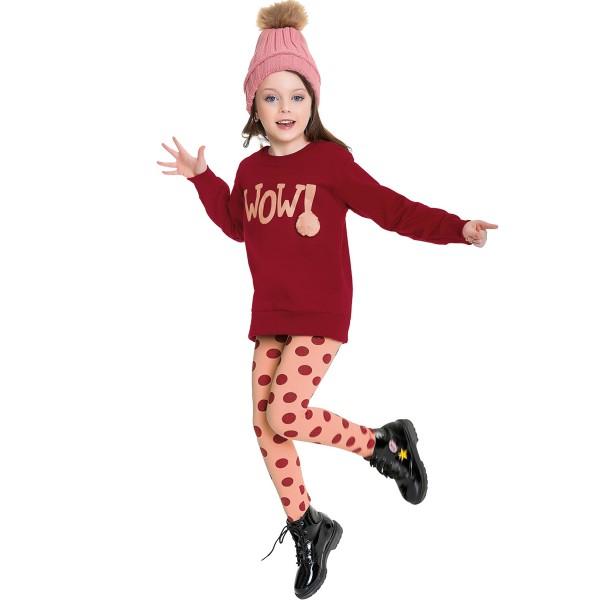 conjunto moletom infantil feminino wow vermelho fakini 1066 1