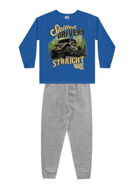 conjunto moletom infantil masculino drivers azul fakini forfun 1189
