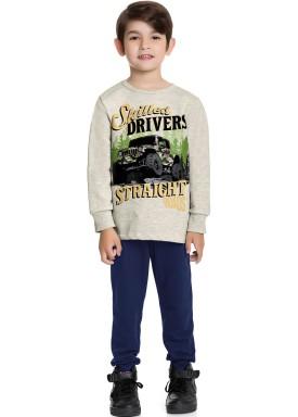 conjunto moletom infantil masculino drivers mescla fakini forfun 1189 1