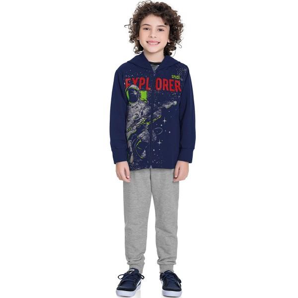 conjunto moletom infantil masculino explorer marinho fakini forfun 1187 1