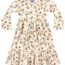 vestido manga longa infantil feminino flores marfim fakini 1053 2