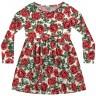 vestido manga longa infantil feminino rosas vermelho fakini 1105 2