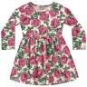 vestido manga longa infantil feminino roses rosa fakini 1057 2