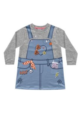vestido molecotton infantil feminino ideas mescla fakini 1025