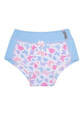 calcinha infantil feminina borboletas azul upman mini 464ce
