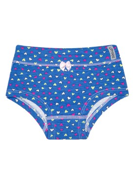 calcinha infantil feminina coracoes azul upman mini 464c5