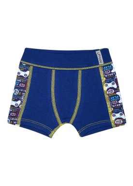cueca boxer infantil masculina video game marinho upman mini 367ce