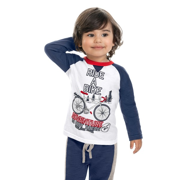 camiseta manga longa infantil masculina bike branco marlan 22598 1