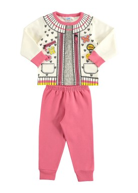conjunto moletom bebe feminino love marfim marlan 20485