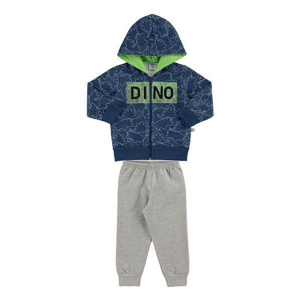 conjunto moletom bebe masculino dino verde marlan 20450