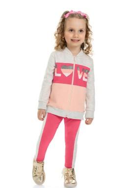 conjunto moletom infantil feminino love mescla marlan 22561 1