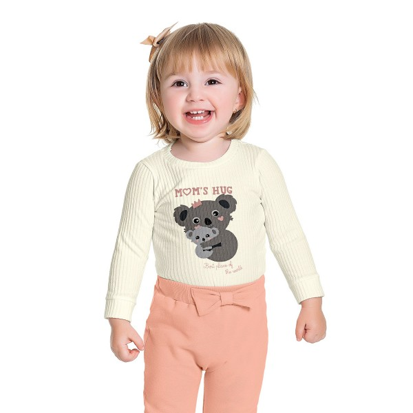 blusa manga longa bebe feminina coala marfim fakini 1014 1