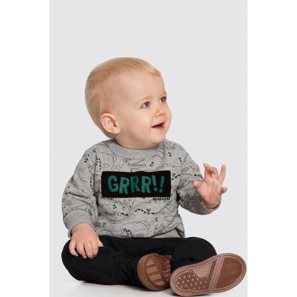 conjunto moletom bebe masculino grrr mescla alakazoo 62553 1