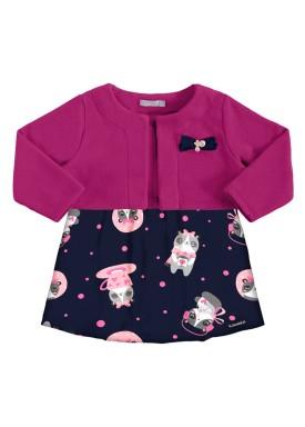 vestido bolero bebe feminino dogs pink alakazoo 62558 1