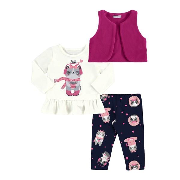 conjunto colete bebe feminino hello pink alakazoo 62566 1