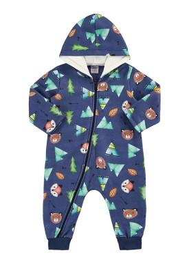 macacao moletom capuz bebe masculino urso marinho marlan 20440