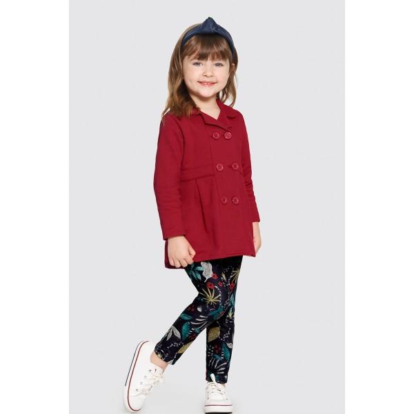 conjunto moletom infantil feminino vermelho alakazoo 62610 1