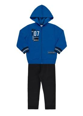conjunto moletom infantil masculino adventures azul alakazoo 62595 1