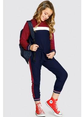 conjunto manga longa infantil feminino vermelho alakazoo 61651 1