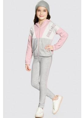 conjunto moletom infantil feminino girls rosa alakazoo 61636 1