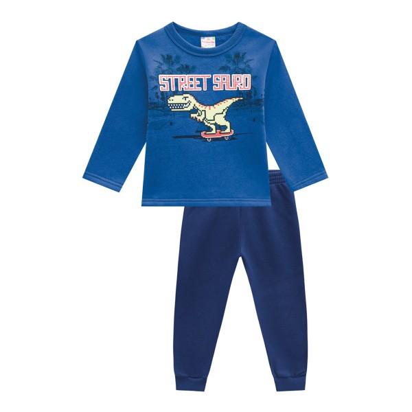 conjunto moletom infantil masculino street sauro azul brandili 54007 1