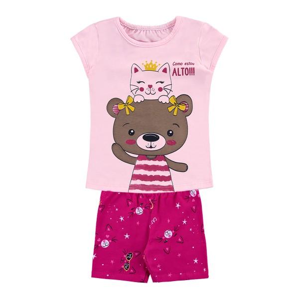 conjunto bebe infantil feminino amigos rosa alenice 41169 1