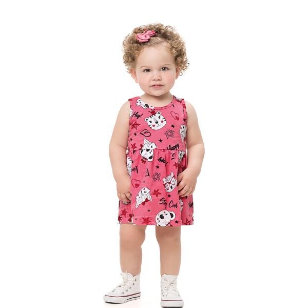 vestido bebe infantil feminino stay cool rosa alenice 41201 1