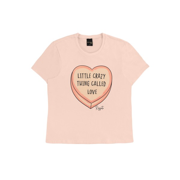 blusa juvenil feminina love salmao rezzato 30798