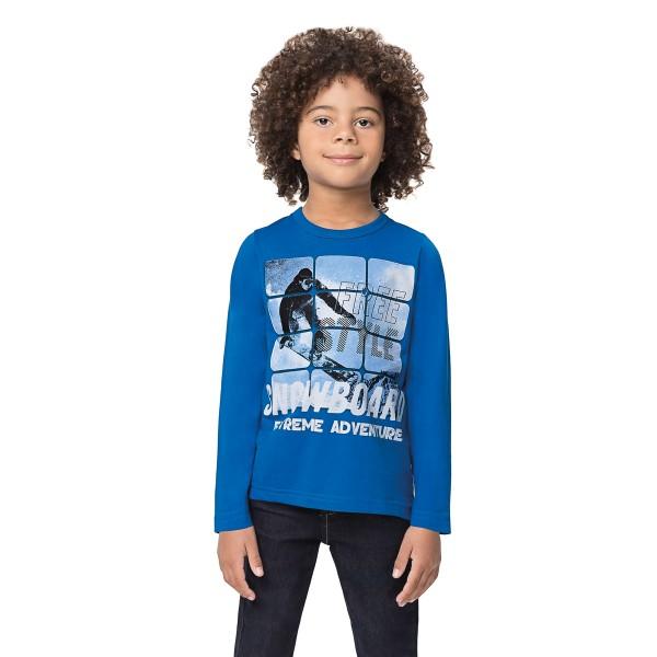 camiseta manga longa infantil masculina snowboard azul alenice 47139 1